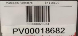 Etichetta distributore